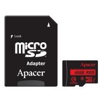 Paměťová karta Apacer - micro SDHC, s adaptérem, UHS-I U1, 16 GB