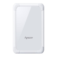 "Externí pevný disk Apacer AC532 - 2.5"", USB 3.1, 1 Tb, bílý"