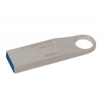 USB Flash disk Kingston Data Traveler SE9 64 GB - 3.0, kovový, stříbrný