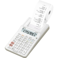 Stolní kalkulačka s tiskem Casio HR 8 RCE WE - 1 řádek, 12 znaků, bílá