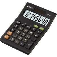 Stolní kalkulačka Casio MS 8 B S - 1 řádek, 8 znaků, černá