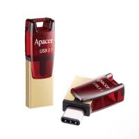 USB Flash disk Apacer AH180 64 GB - 3.1, červeno-zlatý