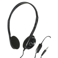 Sluchátka Genius HS-200C - s mikrofonem, jack 2x3,5 mm, černé