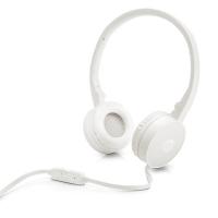 Sluchátka HP H2800 - s mikrofonem, jack 3,5 mm, bílé