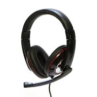 Sluchátka LOGO HL-01 - s mikrofonem, USB, černé