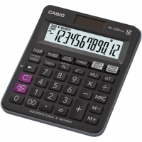 Stolní kalkulačka Casio MJ 120 D Plus - 1 řádek, 12 znaků, černá