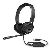 Sluchátka HP Pavilion 500 - s mikrofonem, USB, černé