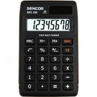 Kapesní kalkulačka Sencor SEC 250 - 1 řádek, 8 znaků, černá