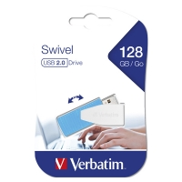 USB Flash disk Verbatim Swivel 128 GB - 2.0, modrý