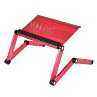 Podstavec pod notebook - 56x29x3,5 cm, hliník/plast, růžový