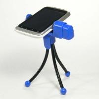 Držák mobilu na stůl Logo - termoplastový, modrý