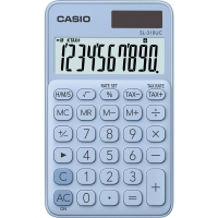 Stolní kalkulačka Casio SL 310UC LB - 1 řádek, 10 znaků, světle modrá