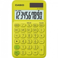 Stolní kalkulačka Casio SL 310UC PL - 1 řádek, 10 znaků, žluto-zelená