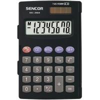 Kapesní kalkulačka Sencor SEC 295/8 Dual - 1 řádek, 8 znaků, černá