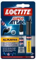 Vteřinové lepidlo Loctite Super Attak All Plastics - 2 g + 4 ml