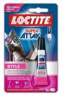 Vteřinové lepidlo Loctite Super Attak Style - 3 g