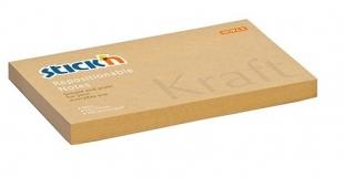 Samolepící bloček Stick n Hopax Kraft Notes - 76x127 mm, 100 listů, hnědý