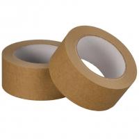 Papírová lepící páska - akrylát, 50x25 m, hnědá