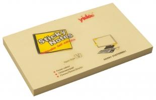 Samolepící bloček - 75x125 mm, 100 listů, žlutý