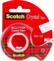 Lepící páska v zásobníku 3M Scotch Crystal - 19x7,5 m, krystalicky čirá