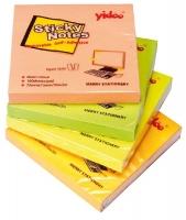 Samolepící bloček - 75x75 mm, 100 listů, neon, žlutý