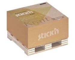 Samolepící kostka Stick n Hopax Kraft Notes - 76x76 mm, 400 listů, hnědý