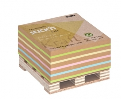 Samolepící kostka Stick n Hopax Kraft Notes - 76x76 mm, 400 listů, mix barev