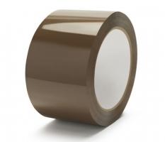 Lepící páska - hot-melt, 48x66 m, havana, hnědá