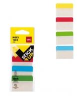 Samolepící záložky Deli Stick Up mini set EA10802 - 38x51 mm, plastové, 4x10 záložek, 4 barvy - DOPRODEJ