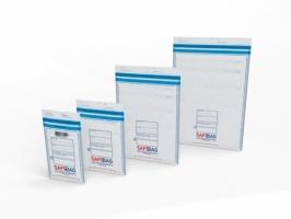 Bezpečnostní obálka Safebag - B5, 200x260 mm + klopa 35 mm, bílá, 100 ks