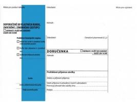 Obálka B6 s doručenkou a poučením Správní řád - samolepící, modrý pruh, odtrhávací, 1000 ks