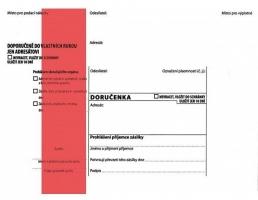 Obálka B6 s doručenkou a poučením Správní řád - samolepící, červený pruh, odtrhávací, 1000 ks