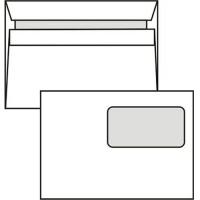 Poštovní obálka C5 - s okénkem, samolepící, 162x229 mm, bílá, 1000 ks