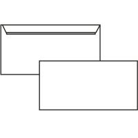 Poštovní obálka DL - bez okénka, krycí páska, 110x220 mm, bílá, 20 ks