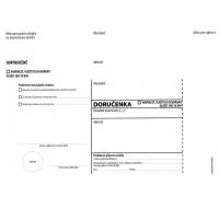 Obálka C5 s doručenkou a poučením Správní řád - vlhčící, bez pruhu, odtrhávací, 1000 ks