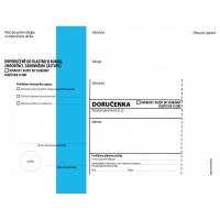Obálka C5 s doručenkou a poučením Správní řád - vlhčící, modrý pruh, odtrhávací, 1000 ks