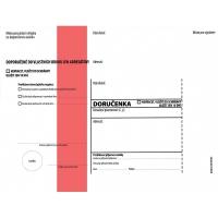Obálka C5 s doručenkou a poučením Správní řád - vlhčící, červený pruh, odtrhávací, 1000 ks