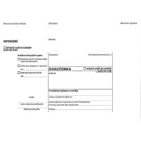 Obálka B6 s doručenkou a poučením Správní řád - vlhčící, bez pruhu, odtrhávací, 1000 ks