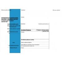 Obálka B6 s doručenkou a poučením Správní řád - vlhčící, modrý pruh, odtrhávací, 1000 ks