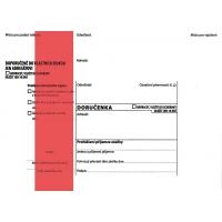 Obálka B6 s doručenkou a poučením Správní řád - vlhčící, červený pruh, odtrhávací, 1000 ks