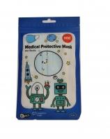 10 ks jednorázové dětské ochranné roušky Medical - třívrstvé, jemný PP materiál, modré