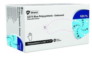 Jednorázové rukavice L GD75 - polysyntetické, bez pudru, modré, 250 ks
