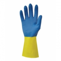 Úklidové rukavice Duo Plus 60 M-8 - gumové-latexové, žluto-modré