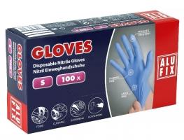 Jednorázové rukavice Alufix S - nitril, bez pudru, modré, 100 ks