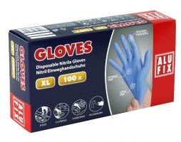 Jednorázové rukavice Alufix XL - nitril, bez pudru, modré, 100 ks