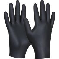 Vyšetřovací rukavice S - nitril, bez pudru, černé, 100 ks