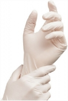 Vyšetřovací rukavice XL - latex, pudrované, bílé, 100 ks - DOPRODEJ