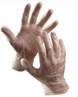 Vyšetřovací rukavice S - vinyl, bez pudru, čiré, 100 ks