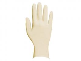 Vyšetřovací rukavice S - latex, bez pudru, bílé, 100 ks