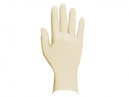 Vyšetřovací rukavice XL - latex, bez pudru, bílé, 100 ks